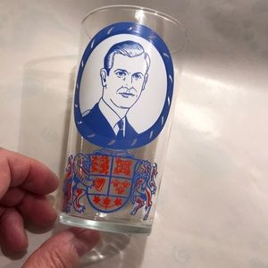 Other - Vintage tumbler. Glass with painted royalty